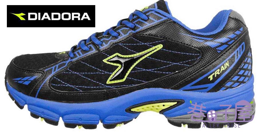 【巷子屋】 義大利國寶鞋-DIADORA 男款寬楦防潑水全地形專業運動跑鞋 [2906] 藍 台灣製造 超值價$1176