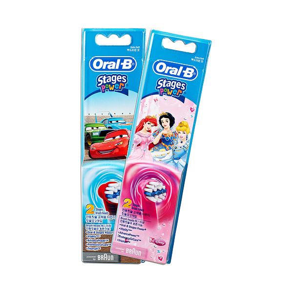 【Oral-B】歐樂B 兒童專用電動牙刷刷頭2入