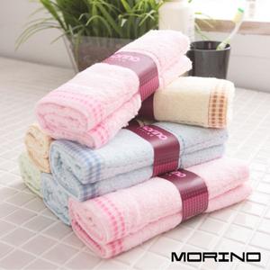 【MORINO】色紗條紋毛巾3入組