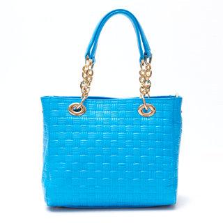 【Ve vitalise】立體壓印質感方型包(水藍色)