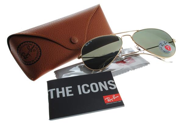 Ray Ban 雷朋 金邊墨綠鏡 太陽眼鏡 RB3025