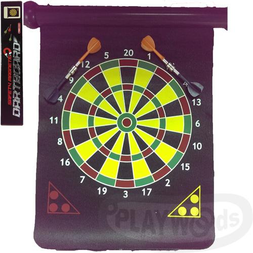 【Barocco Nuts】[Party派對遊戲]紅心射靶:11吋 二合一捲軸紙盒裝 軟磁鐵射靶-輕巧好收納款(25cm/BL-1016B/可掛式/飛鏢/含6隻飛鏢/兩種玩法/2in1/桌遊/家庭娛樂..