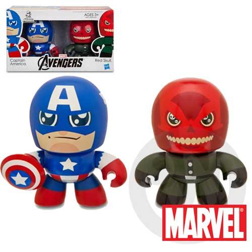 【Playwoods】[復仇者聯盟Avengers]Mini Muggs: 美國隊長Captain America & 紅骷髏Red Skull迷你 雙人組 公仔模型王(驚奇英雄Marvel超人/鋼鐵..