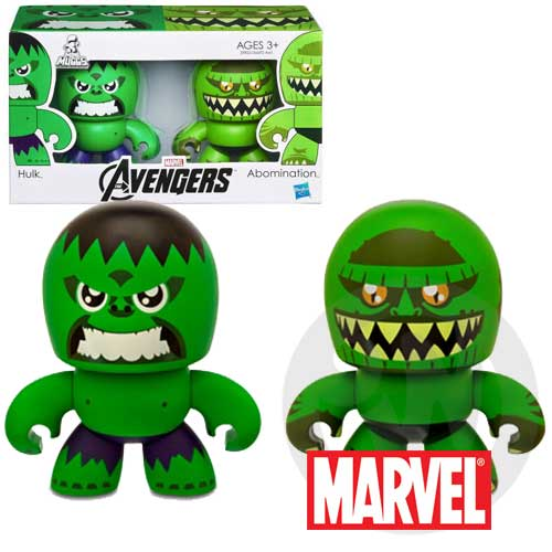【Playwoods】[復仇者聯盟Avengers]Mini Muggs:綠巨人 浩克Hulk & 惡煞Abomination迷你 雙人組 公仔模型王(驚奇英雄Marvel超人/鋼鐵人3/Iron M..