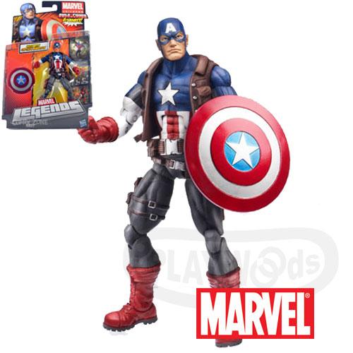 【Playwoods】[Marvel Legends]漫威宇宙2013 Hit Monkey系列:美國隊長Ultimate Captain America 6吋人物(Wave 1-殺手猴/Avenge..