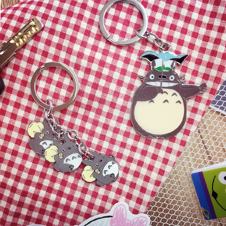 PGS7 日本卡通系列商品 - 龍貓 ??????? Totoro 造型鐵片鑰匙圈 吉卜力 宮崎駿
