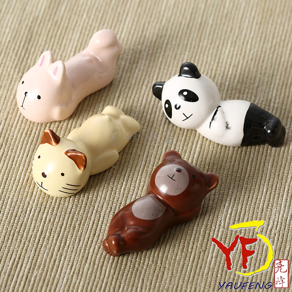 ★堯峰陶瓷★餐桌系列 韓國品牌 12點萌廚 可愛動物 筷架 筷墊 4入套組
