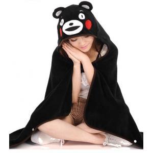 *vivi shop*可愛卡通宅人日本熊本熊 & 史迪奇 龍貓 輕鬆熊 雙面珊瑚絨加厚 披風 連帽披肩 抖篷 毯子(隨機附贈-徽章or可愛卡通零錢包)