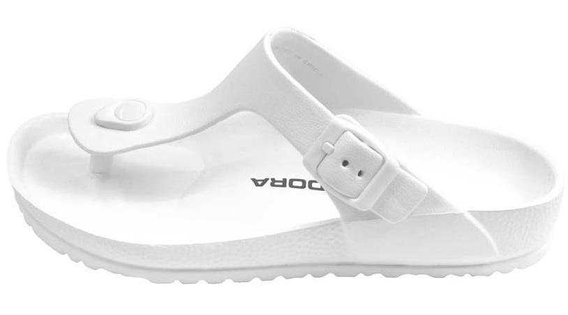 【巷子屋】義大利國寶鞋-DIADORA迪亞多納 女款漾彩時尚勃肯超輕T字拖鞋 [3529] 白 超值價$198