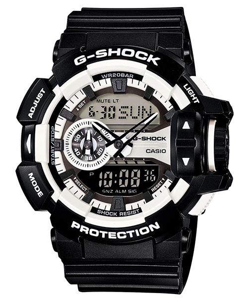 國外代購 CASIO G-SHOCK GA-400-1A 雙顯大錶面 運動防水手錶腕錶電子錶男女錶 酷黑太極