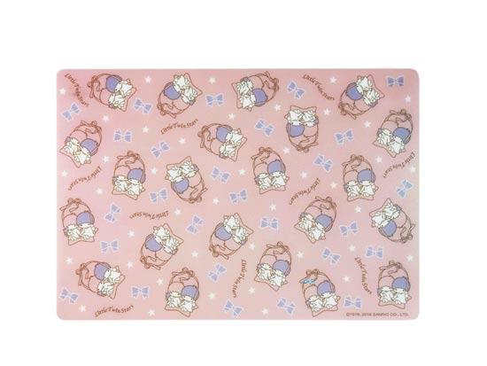 【真愛日本】16042100030 多功能止滑墊-TS星星粉 雙子星 三麗鷗 KIKI LALA 餐墊 置物墊 廚房