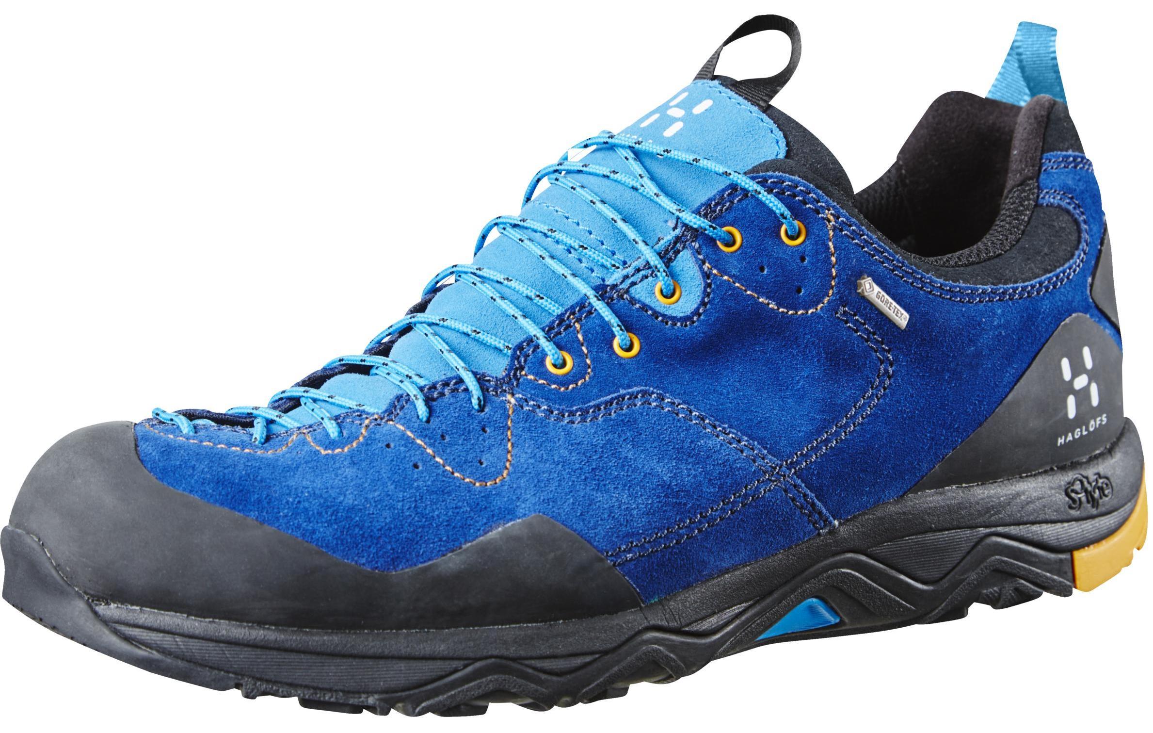 HAGLOFS 休閒鞋/登山鞋/防水健行鞋Rocker Leather GT 瑞典 男款Gore-tex鞋 491660-33Q 颶風藍/番花黃