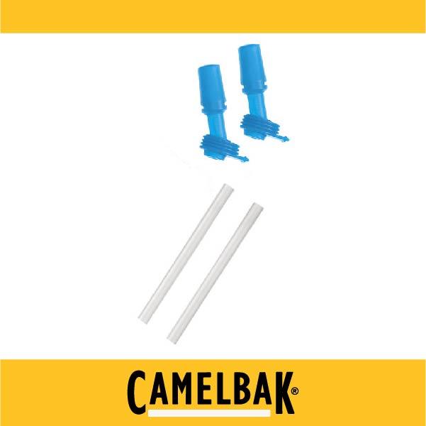 萬特戶外運動-CamelBak 400ml 兒童咬嘴吸管組 咬嘴*2 吸管*2 藍色