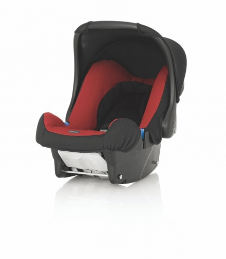【淘氣??】Britax BABY-SAFE 基本款提籃型安全汽車座椅(汽座) -( 紅 / 黑 )【英國皇室御用品牌】