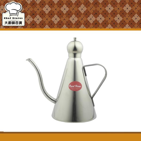 寶馬牌不鏽鋼三角咖啡細口壺附蓋油壺250ml手沖壺茶壺-大廚師百貨
