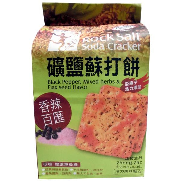正哲生技~礦鹽蘇打餅乾香辣百匯風味380公克/包(奶素)