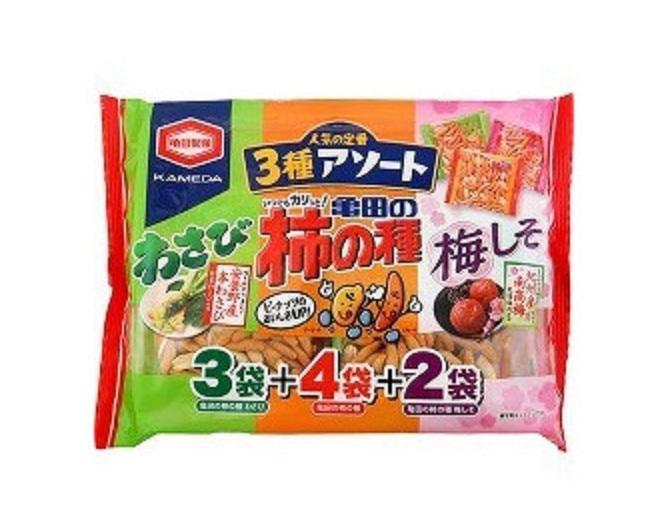 龜田3種味9袋柿之種 250g
