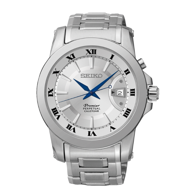 Seiko Premier 6A32-00X0S(SNQ139J1)萬年曆經典羅馬石英腕錶/白面41mm