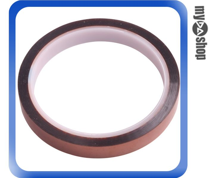 《DA量販店》全新 茶色高溫膠 12MMX33M 金手指 防靜電 絕緣材料膠帶 高溫膠紙(34-737)