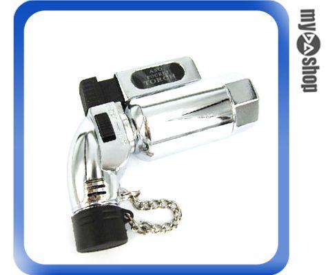 《DA量販店G》金屬直桶造型 噴槍式 防風 強力噴射 打火機 可充瓦斯 重複使用(37-502)
