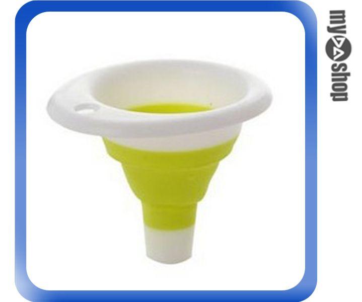 《DA量販店》迷你 伸縮漏斗 收納 矽膠 漏斗 便攜式 漏斗 油漏斗 顏色隨機(79-1969)