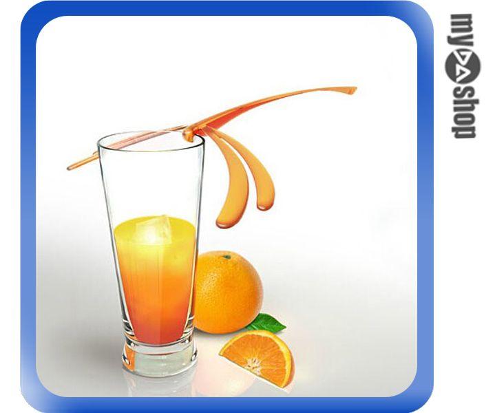 《DA量販店》創意 居家 動物 造型 蜻蜓 生活 咖啡 攪拌棒 飲料 顏色隨機(80-1047)