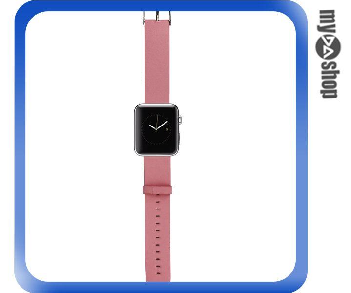 《DA量販店》Apple watch 皮質 錶帶 38mm 粉紅 附工具(80-2058)