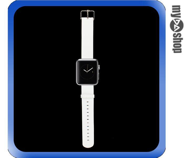《DA量販店》Apple watch 皮質 錶帶 42mm 白色 附工具(80-2063)