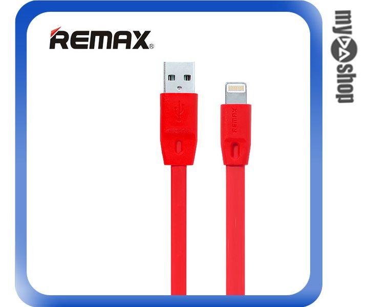 《DA量販店》REMAX 全速線 IPHONE6 5S 5 充電線 扁線 紅色 1M(81-0151)