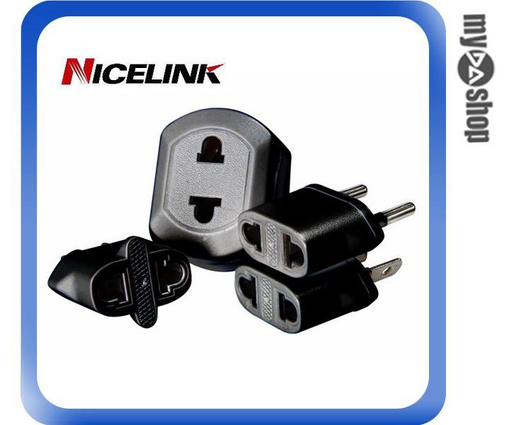 《DA量販店》Nicelink耐司林克 UA-401A-B 旅行萬用4合1轉接頭 黑(W89-0112)