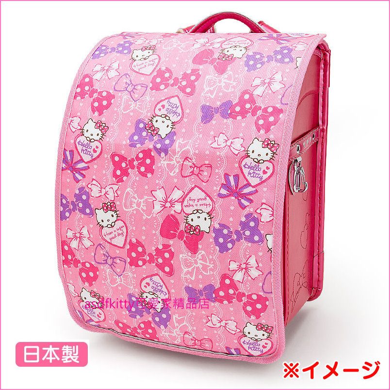 asdfkitty可愛家☆KITTY水玉兒童後背書包防水雨套-美觀.每天可用-日本製