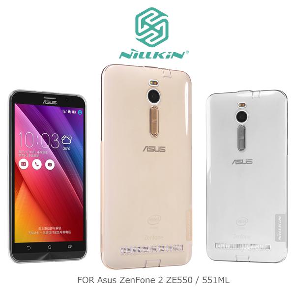 強尼拍賣~ NILLKIN Asus ZenFone 2 ZE550/551ML 本色系列TPU軟套 軟殼 透色套