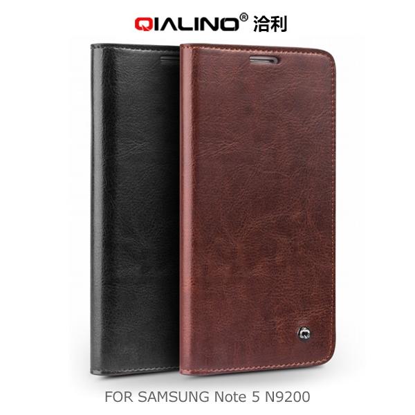 強尼拍賣~QIALINO 洽利 Samsung Note 5 N9200/N9208 經典皮套 保護套 側翻皮套