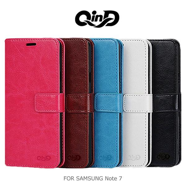 強尼拍賣~ QIND 勤大 SAMSUNG Galaxy Note 7 經典插卡皮套 側翻皮套 保護套