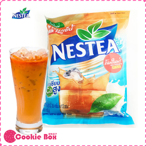 泰國 雀巢 三合一 泰式 奶茶 35g*13包/袋 NESTEA 香甜 茶香 方便 沖泡 奶茶 隨身包 *餅乾盒子*