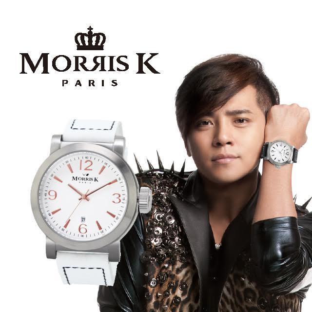 【Morris K】羅志祥代言 經典復古大三針時尚腕錶-白x玫瑰金/43mm MK12025-XA04