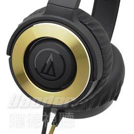 【曜德★新上市】鐵三角 ATH-WS550 黑金 密閉式動圈型 易攜帶耳罩式耳機 ★免運★送收納袋★