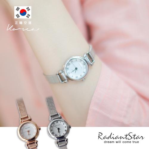 正韓STACCATO凡爾賽迷情羅馬字小圓金屬米蘭鍊帶錶/手錶【WST385】璀璨之星☆