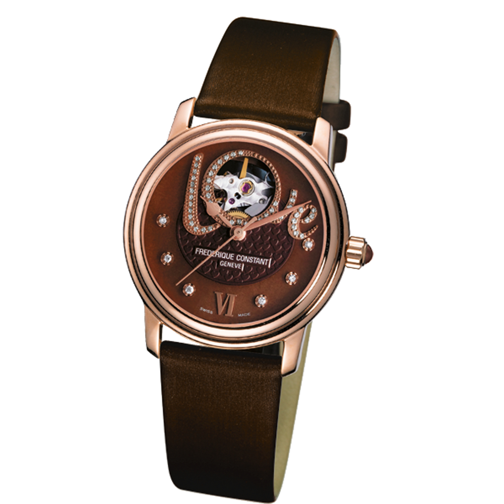 CONSTANT 康斯登/珍愛女鑽錶/機械錶/18k金錶殼/FC-310CLHB2P4