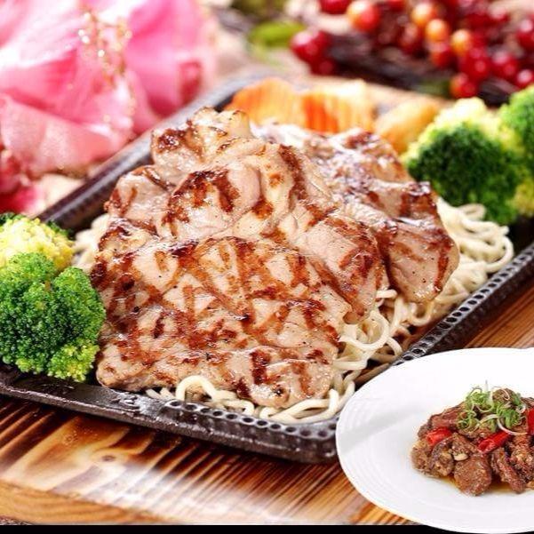 赤鬼炙燒牛排-炙烤豬排餐-附贈赤鬼秘製牛筋