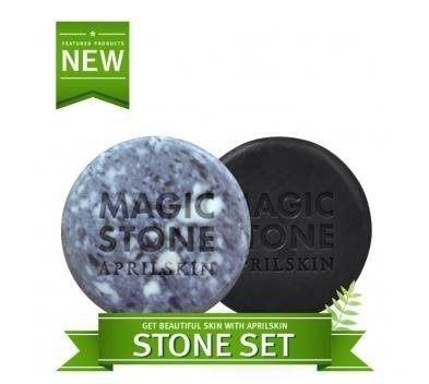 韓國 APRIL SKIN MAGIC STONE天然魔法石潔顏皂(100g) 【巴布百貨】