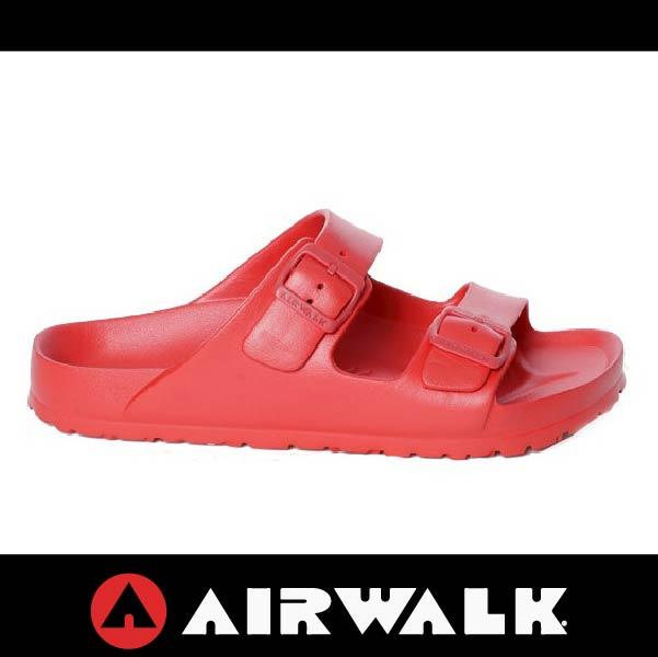 萬特戶外運動-AIRWALK A535220140 美國運動流行 台灣製造 雙扣環拖鞋 EVA 運動拖鞋 勃肯鞋款BIRKENSTOCK 全紅