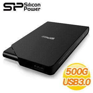 [nova成功3C]廣穎 Silicon Power 霧面黑 Stream S03 500GB USB3.0 2.5吋行動硬碟