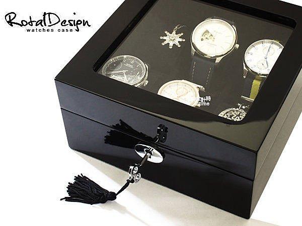 │完全計時│手錶收藏盒【6只入】鋼琴烤漆黑原木手錶收藏盒 (鋼琴01-1)禮物 現貨 超值