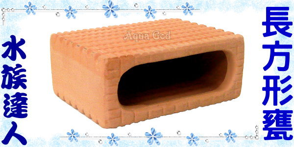 【水族達人】陶瓷《長方形甕》產卵器 裝飾、魚兒躲藏、產卵