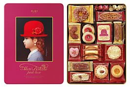 日本進口高帽子喜餅 粉紅帽15種禮盒(新)352g 現貨