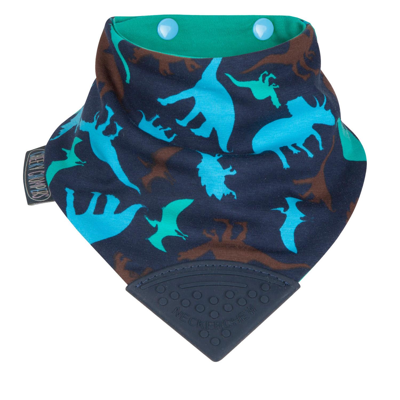 【英國 Cheeky Chompers】 全世界第一個咬咬兜/ 圍兜 / 口水巾-恐龍樂園