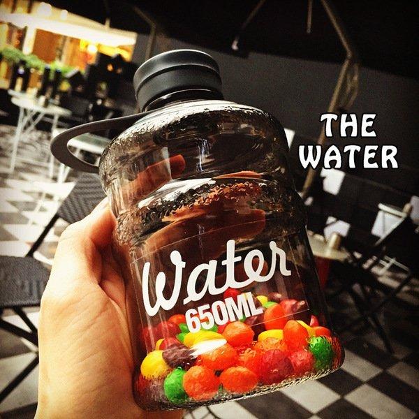 =優生活=【新品優惠$99】韓國water bottle 迷你創意水桶杯 夏日學生隨身水壺 冷水壺 飲水機 胖胖瓶 650ML