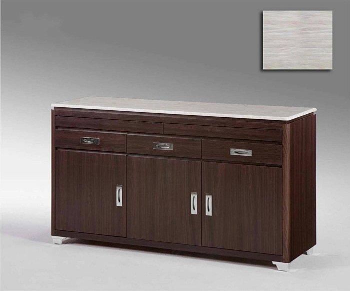 【尚品傢俱】421-17 霍爾 5尺石面胡桃開門餐櫃/碗盤碟櫃/碗盤櫥櫃