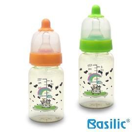 小崴Life親子館【貝喜力克 Basilic】防脹氣PES直圓型奶瓶120ml (D100)